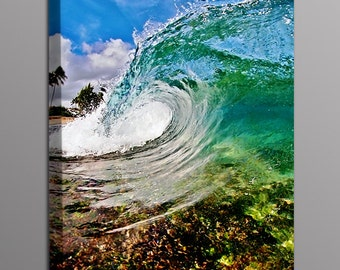 Wave Photography Canvas Photo Print Ocean Wave Surfing Photo Wall Art Home Decor