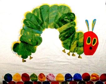 "Very Hungry Caterpillar Panel Fabric - L34"" x W38"" inches - Cotton Blend"