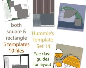 Digital Scrapbooking Template Set 14