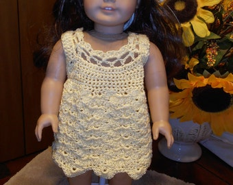 American Girl crocheted dress and hat