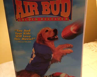 Repurposed Air Bud vhs covered journal