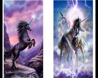 Beautiful Unicorns - Digital Downloads - Digital Collage Sheets - Unicorns - Unicorn Jewelry - Dominoe Pattern - DP70