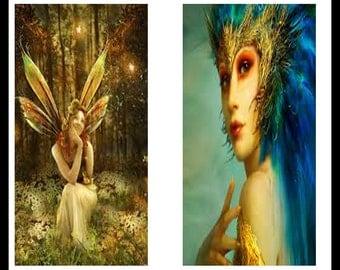 Digital Download Sheet - Digital Collage Sheet - Fairy Prints - Scrapbooking - Dominoe Prints - Dominoes - Jewelry - DDP88