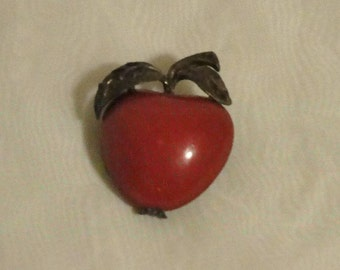 Vintage Red Apple Pin