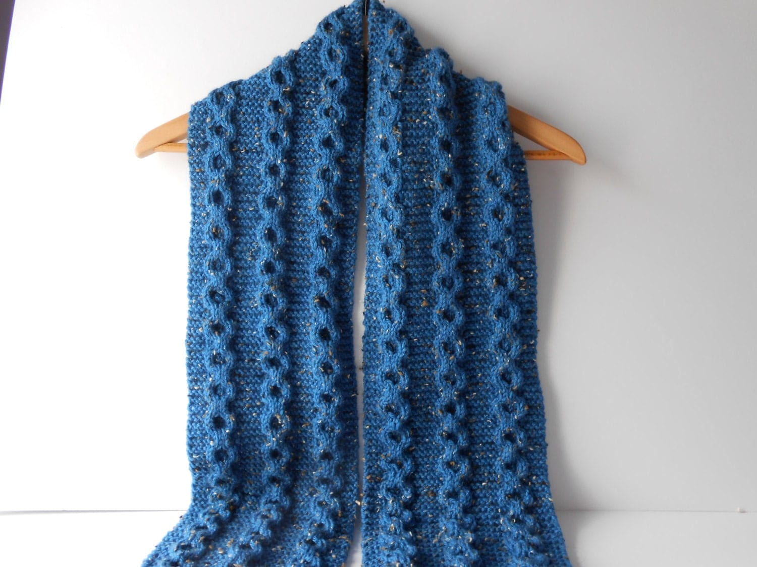 Knitting Mens Scarves : Men s scarf cable knit hand knitted