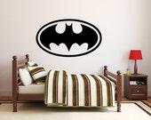 "38""W x 22""H Kids Room Batman Decal - Vinyl Wall Decal Sticker"