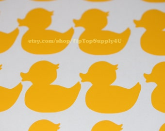 20 rubber ducky, rubber duck vinyl decal. Add to cups, napkins,cards, party decoration, treat bag, etc. Baby shower, birthday party.  B-116