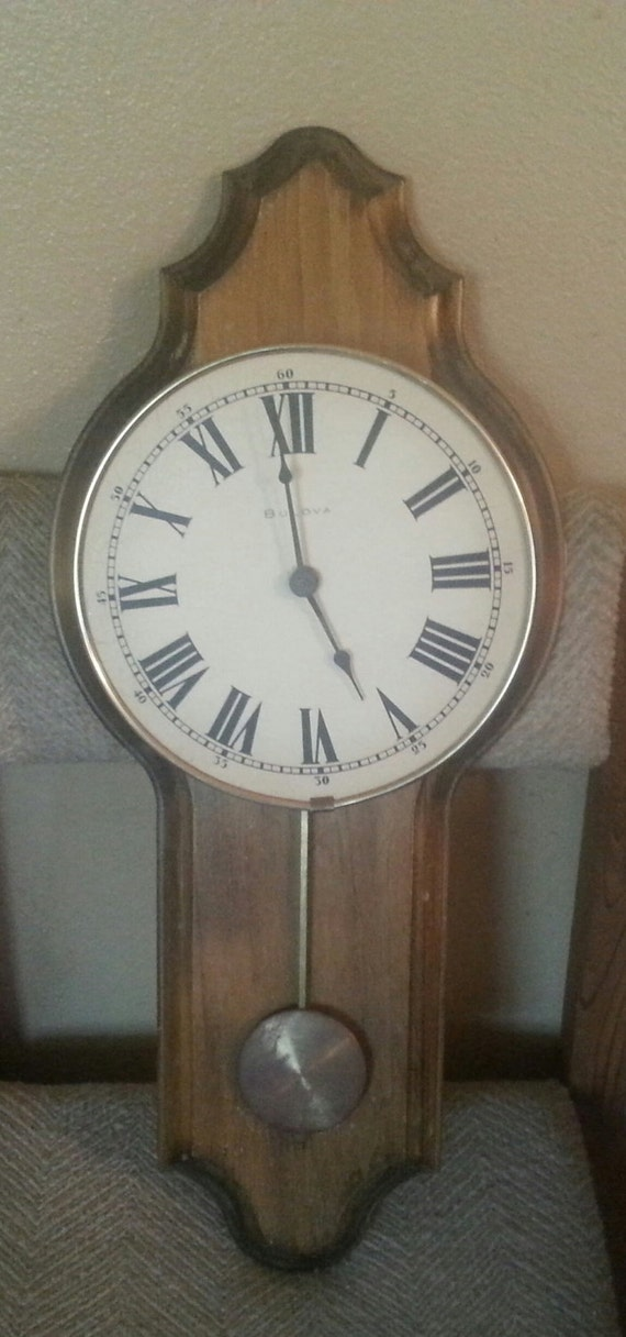 Vintage Bulova C3422 Wall Clock Mounted On By