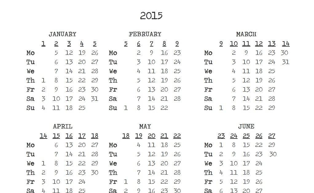 2016 Calendar Printable Week Number   newhairstylesformen2014.com