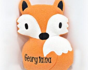 Fox Softie with Monogram