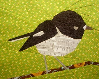 Tomtit- A Paper Pieced Pattern