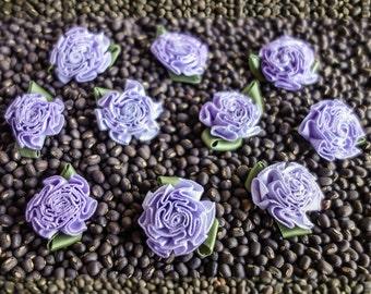 Small Purple Chrysanthemum Ribbon Blossoms