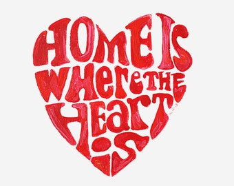 home is where the heart is painting // made to order