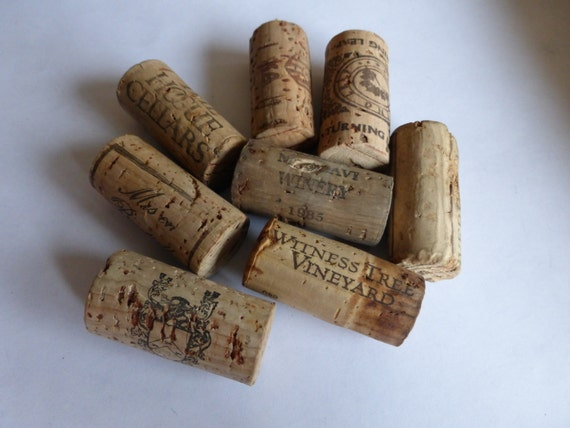 Vintage corks wine bottle size salt pepper replacement retro for Wine cork replacement
