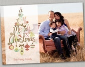 Christmas Card Template for Photographers - One Side - 5x7 .PSD File
