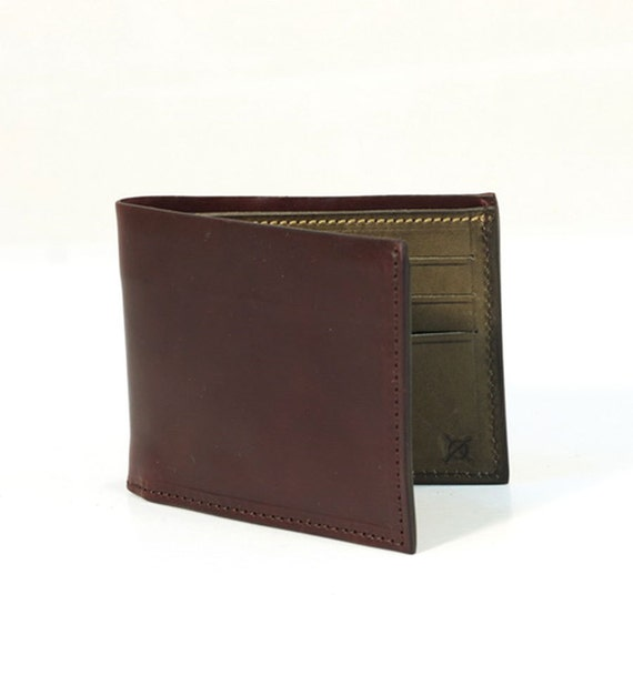 RFID Shell Cordovan Leather Walllet Genuine Leather Case made in Tuscany Italy colour Burgundy
