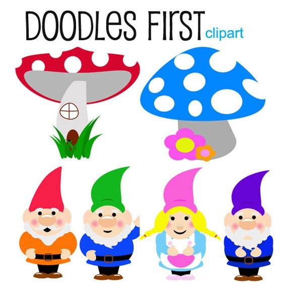 Zwerge Clipart Digital ClipArt für Scrapbooking von DoodlesFirst