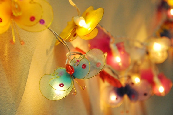colorful butterfly string lights for PatioWeddingParty and