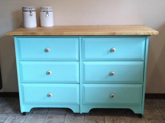 Repurposed Antique Dresser As A Kitchen Island With A: Repurposed Dresser As A Kitchen Island With By