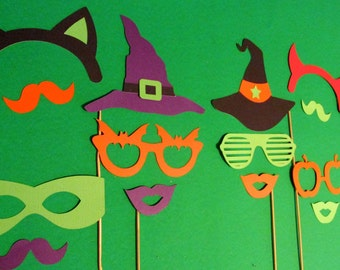 Halloween Photo Booth Props 14pc Halloween Party Decorations Halloween Props Halloween Decorations Photo Booth Props