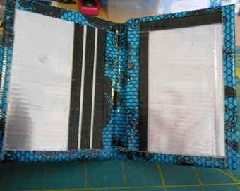 Blue Lace, Chrome, and Black Duct Tape Smallet