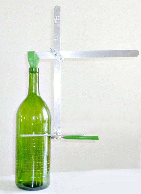 Generation 2 green bottle and jar cutter recycle for Bottle painting materials