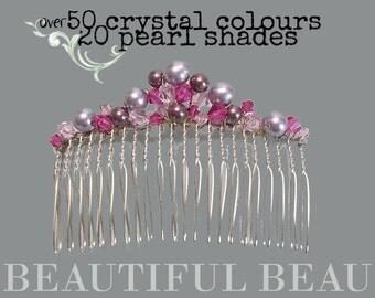 Bridal Hair Comb, Bridesmaid Hair Comb, Wedding Hair Comb, Bridal Hair Accessory, Bridesmaid Hair Accessory, Crystal & Pearl Comb - ELEGANCE