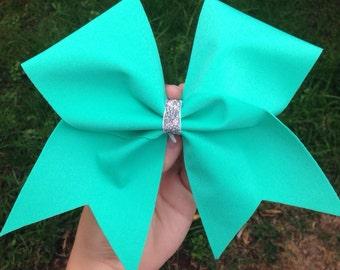 Aqua Blue/Mint Cheer bow