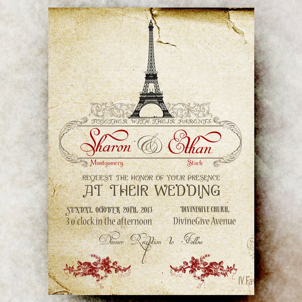 paris wedding invitations | Wedding