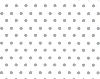 White with gray polka dots craft  vinyl sheet - HTV or Adhesive Vinyl -  polka dot pattern   HTV116
