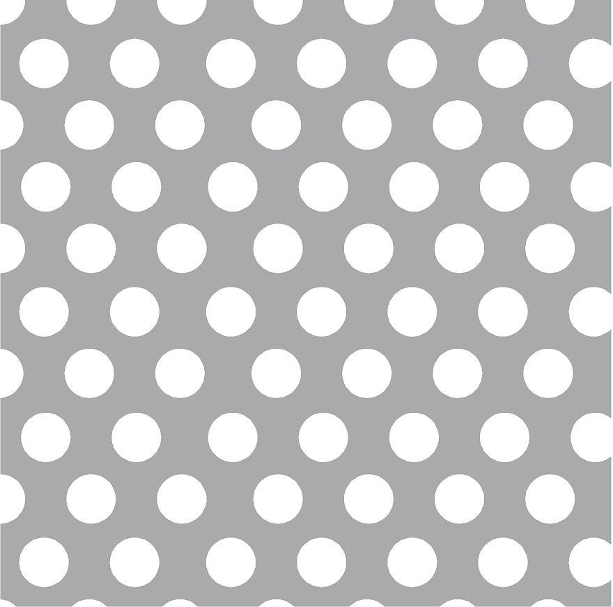 Gray With White Polka Dot Pattern Grey Vinyl By