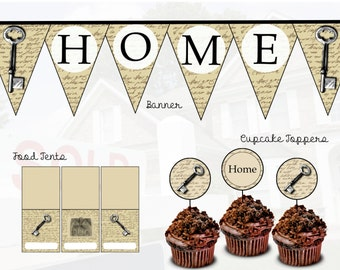 Housewarming Party Printable Pack, PDF, DIY, Instant Download, Home