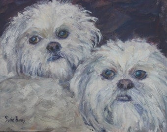 Custom Pet Portraits painted in oils by award-winning professional artist, Susie Burns