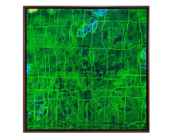 "Abstract green Acrylic-painting, Original Art by AG The Artmakers : ""Zeitebenen"", Gallery of modern & contemporary  Art"