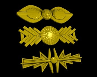 Original series Klingon Sash pins