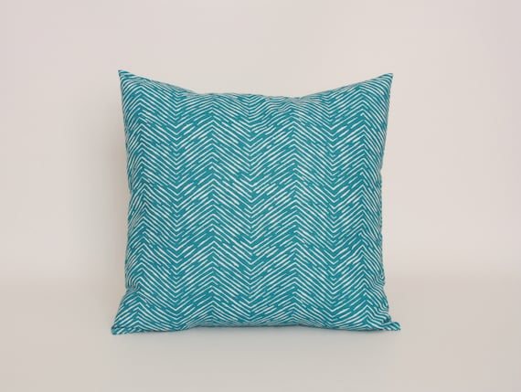 Etsy Teal Throw Pillow : Items similar to Blue Throw Pillow Cover, Teal Blue Cushion Cover, 16 x 16 Throw Pillow Cover in ...