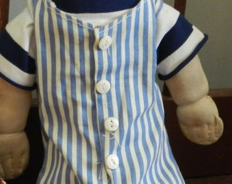 Vintage Little Boy Cloth Doll