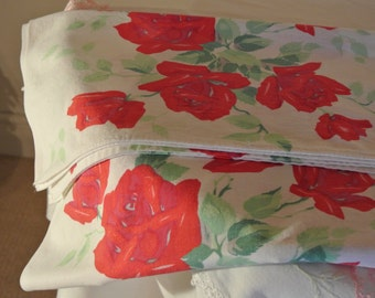 Wilendur vintage tablecloth, Royal Rose