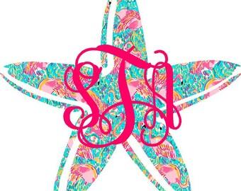 Monogram Starfish Decal