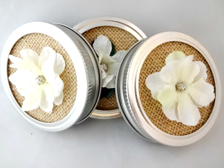 decorative mason jar lids burlap mason jar lid insert small. Black Bedroom Furniture Sets. Home Design Ideas