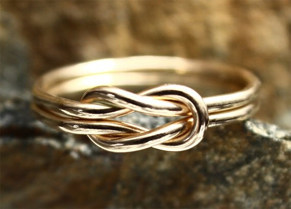 Love Knot Ring 14K Gold Filled Square Knot Nautical Ring Bridesmaid Nautical Wedding Friendship Ring Celtic Knot