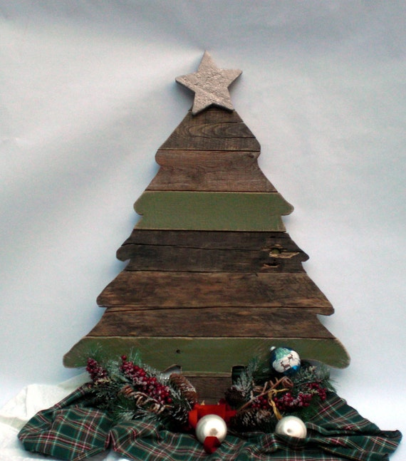 Reclaimed wood christmas tree rustic decor