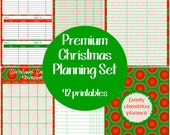 Premium Christmas Planner Set - Editable Printable - Instant Download