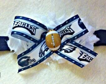 Philadelphia Eagles Baby Girl Boutique Bow Elastic Headband