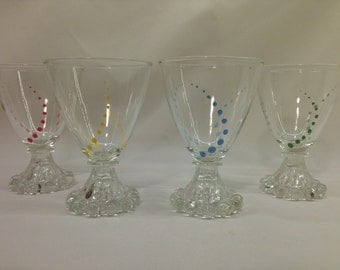 Hand Painted Comical Margarita Glasses