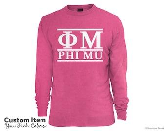 Phi Mu Custom Comfort Colors Classic Sorority Sweatshirt