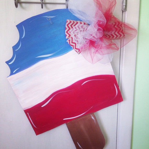 4th Of July Mason Jar Door Hanger