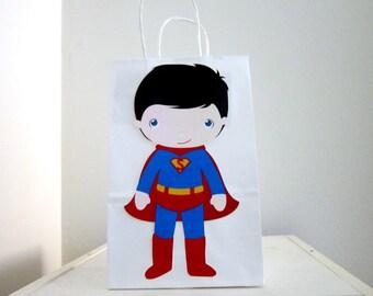 Superhero Goody Bags, Superhero Favor Bags, Superhero Gift Bags, Superhero Party Bags