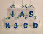 Kids Cups with lid and Straw personalized with name and initial- 16oz---party favor, toddler, kids, party