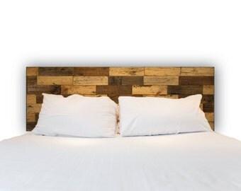 Queen Headboard Patchwork Reclaimed Wood